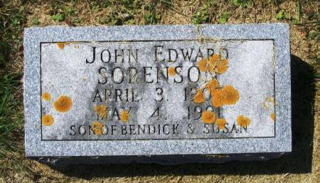 SORENSON, JOHN EDWARD - Winneshiek County, Iowa   JOHN EDWARD SORENSON
