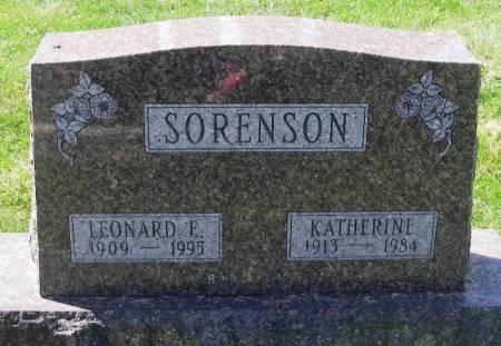 SORENSON, LEONARD E. - Winneshiek County, Iowa   LEONARD E. SORENSON