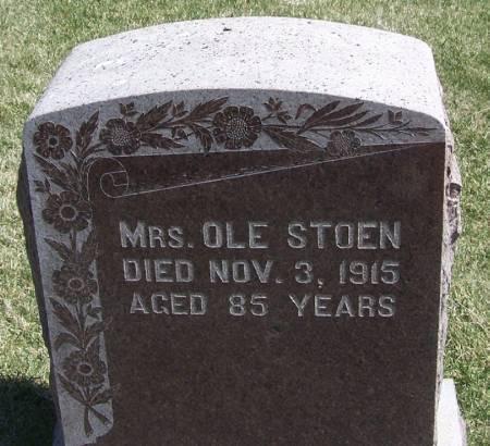 STOEN, MRS. OLE - Winneshiek County, Iowa   MRS. OLE STOEN