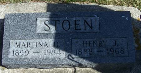 STOEN, HENRY J - Winneshiek County, Iowa   HENRY J STOEN