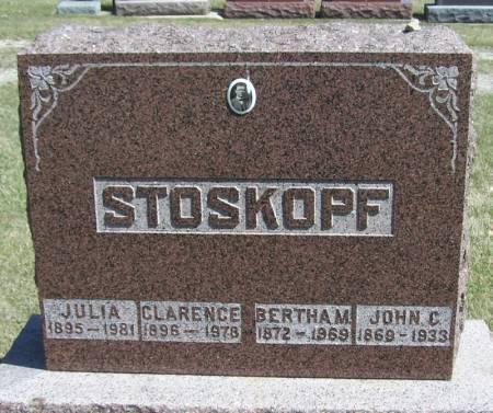 ANDERSON STOSKOPF, BERTHA M. - Winneshiek County, Iowa | BERTHA M. ANDERSON STOSKOPF