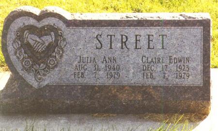 STREET, JULIA - Winneshiek County, Iowa | JULIA STREET