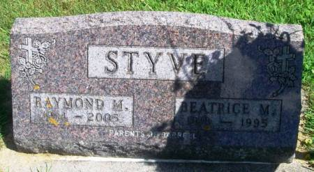 STYVE, BEATRICE M - Winneshiek County, Iowa   BEATRICE M STYVE