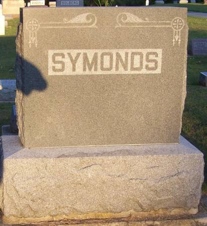 SYMONDS, W. T. FAMILY STONE - Winneshiek County, Iowa | W. T. FAMILY STONE SYMONDS