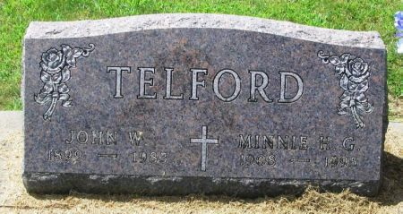 TELFORD, MINNIE H. G. - Winneshiek County, Iowa | MINNIE H. G. TELFORD