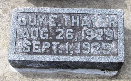 THAYER, GUY  E. - Winneshiek County, Iowa | GUY  E. THAYER