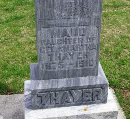 THAYER, MAUD - Winneshiek County, Iowa | MAUD THAYER