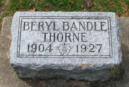 BANDLE THORNE, BERYLE - Winneshiek County, Iowa | BERYLE BANDLE THORNE