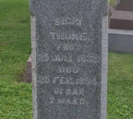 THUNE, SIGRI - Winneshiek County, Iowa | SIGRI THUNE