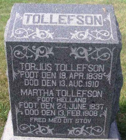 TOLLEFSON, TORJUS - Winneshiek County, Iowa   TORJUS TOLLEFSON