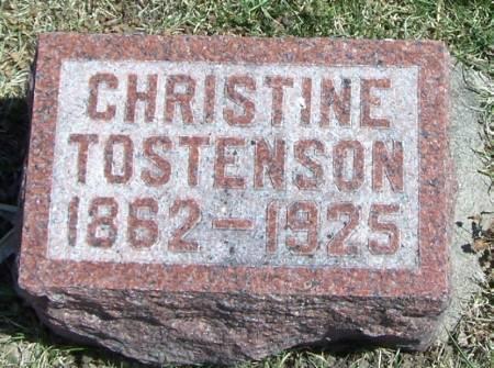 TOSTENSON, CHRISTINE - Winneshiek County, Iowa   CHRISTINE TOSTENSON