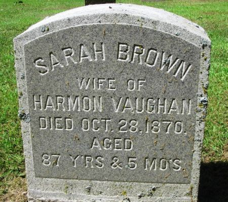 BROWN VAUGHAN, SARAH - Winneshiek County, Iowa | SARAH BROWN VAUGHAN