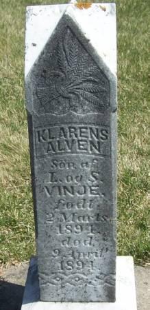 VINJE, KLARENS ALVEN - Winneshiek County, Iowa | KLARENS ALVEN VINJE