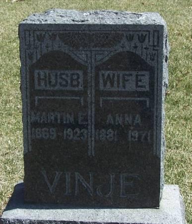 VINJE, MARTIN E - Winneshiek County, Iowa | MARTIN E VINJE