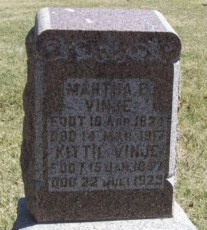 VINJE, MARTHA E - Winneshiek County, Iowa | MARTHA E VINJE