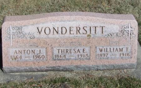 VONDERSITT, WILLIAM T - Winneshiek County, Iowa | WILLIAM T VONDERSITT