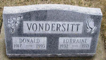 VONDERSITT, DONALD - Winneshiek County, Iowa | DONALD VONDERSITT
