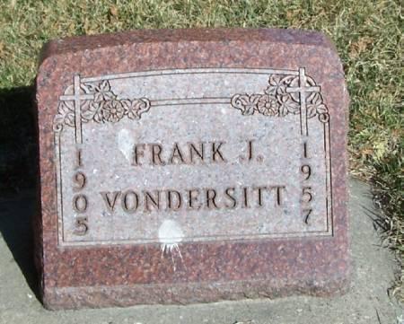 VONDERSITT, FRANK J. - Winneshiek County, Iowa | FRANK J. VONDERSITT