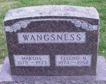 WANGSNESS, MARTHA - Winneshiek County, Iowa   MARTHA WANGSNESS