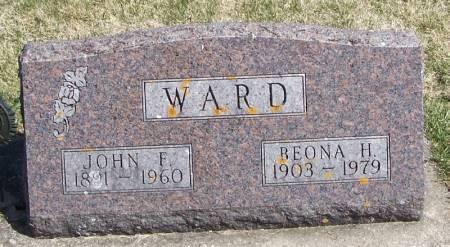 WARD, BEONA H - Winneshiek County, Iowa | BEONA H WARD