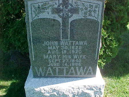 WATTAWA, MARY - Winneshiek County, Iowa | MARY WATTAWA