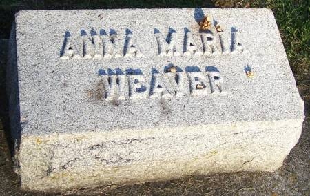 WEAVER, ANNA MARIA - Winneshiek County, Iowa | ANNA MARIA WEAVER