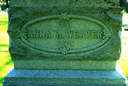 WEAVER, ANNA M. - Winneshiek County, Iowa | ANNA M. WEAVER