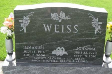 WEISS, IMMANUEL - Winneshiek County, Iowa | IMMANUEL WEISS
