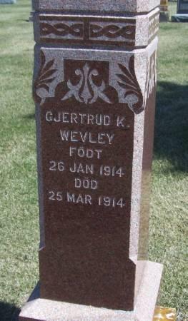 WEVLEY, GJERTRUD K - Winneshiek County, Iowa | GJERTRUD K WEVLEY