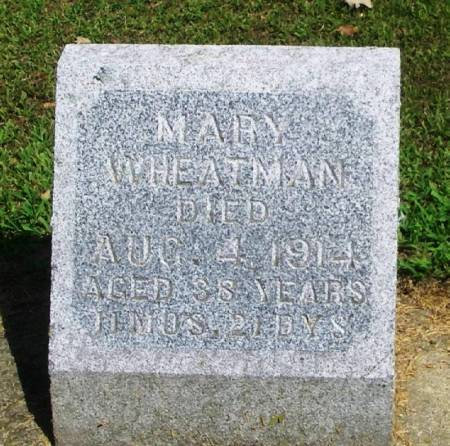 WHEATMAN, MARY - Winneshiek County, Iowa | MARY WHEATMAN