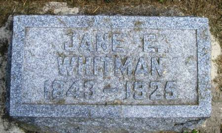 WHITMAN, JANE E - Winneshiek County, Iowa | JANE E WHITMAN