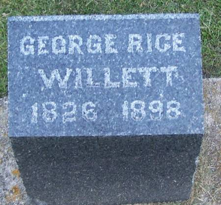 WILLETT, GEORGE RICE - Winneshiek County, Iowa | GEORGE RICE WILLETT