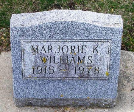 WILLIAMS, MARJORIE K. - Winneshiek County, Iowa | MARJORIE K. WILLIAMS