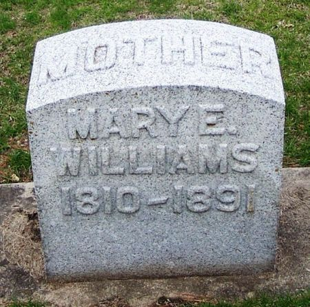 WILLIAMS, MARY E. - Winneshiek County, Iowa   MARY E. WILLIAMS