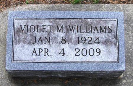 WILLIAMS, VIOLET M. - Winneshiek County, Iowa | VIOLET M. WILLIAMS