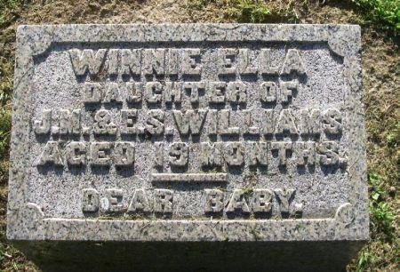 WILLIAMS, WINNIE ELLA - Winneshiek County, Iowa | WINNIE ELLA WILLIAMS
