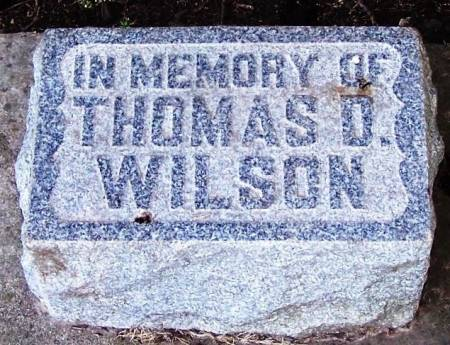 WILSON, THOMAS D - Winneshiek County, Iowa | THOMAS D WILSON