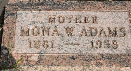 ADAMS, MONA W. - Woodbury County, Iowa | MONA W. ADAMS
