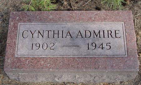 ADMIRE, CYNTHIA - Woodbury County, Iowa   CYNTHIA ADMIRE