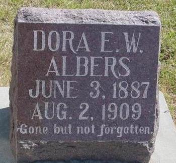ALBERS, DORA E. W. - Woodbury County, Iowa | DORA E. W. ALBERS