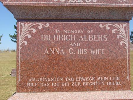 ALBERS, DIEDRICH & ANNA C. - Woodbury County, Iowa | DIEDRICH & ANNA C. ALBERS