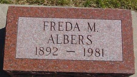 ALBERS, FREDA M. - Woodbury County, Iowa | FREDA M. ALBERS