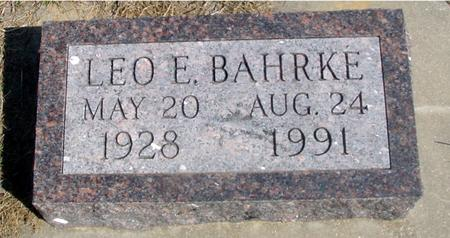 BAHRKE, LEO E. - Woodbury County, Iowa | LEO E. BAHRKE