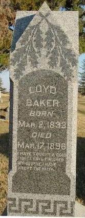 BAKER, LOYD - Woodbury County, Iowa   LOYD BAKER