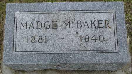 BAKER, MADGE M. - Woodbury County, Iowa   MADGE M. BAKER