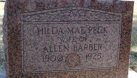 PECK BARBER, HILDA MAE - Woodbury County, Iowa   HILDA MAE PECK BARBER