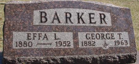 BARKER, GEORGE T. & EFFA - Woodbury County, Iowa   GEORGE T. & EFFA BARKER