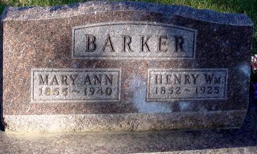 BARKER, HENRY & MARY ANN - Woodbury County, Iowa | HENRY & MARY ANN BARKER
