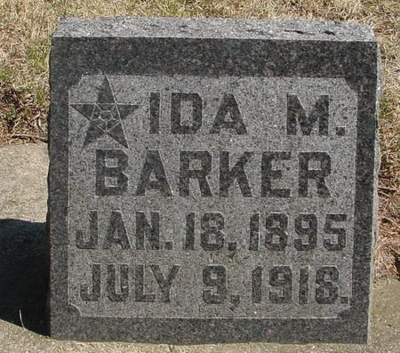 BARKER, IDA M. - Woodbury County, Iowa | IDA M. BARKER
