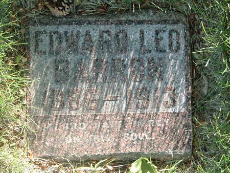 BARRON, EDWARD LEO - Woodbury County, Iowa   EDWARD LEO BARRON